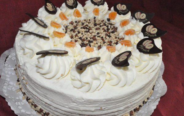 Pfirsich Sahne Torte