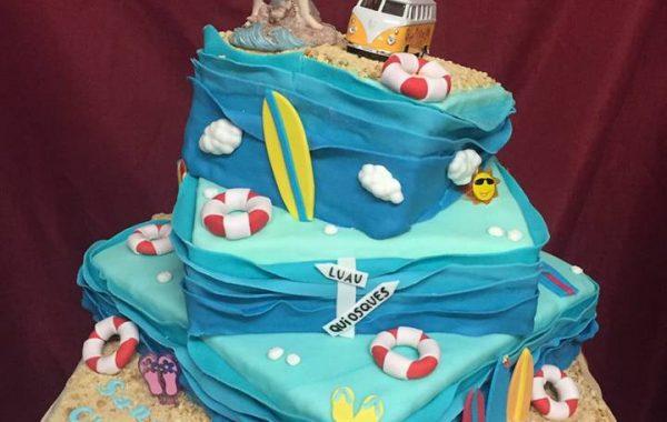 Hochzeits Beach Torte